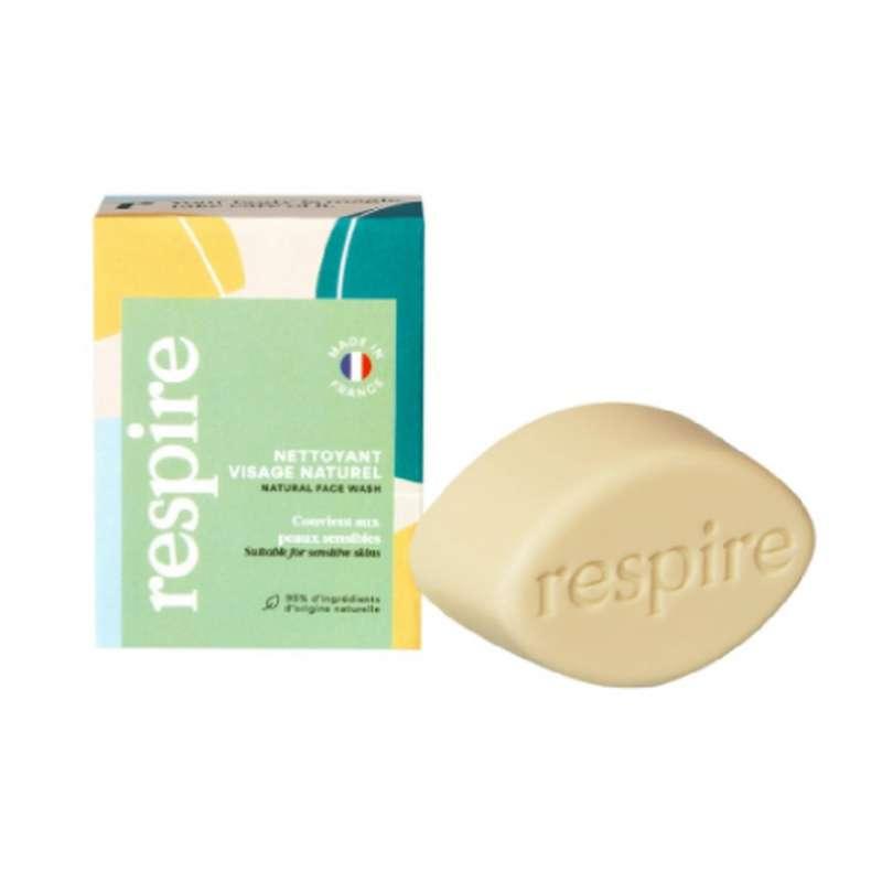 Nettoyant visage solide BIO, Respire (50 g)