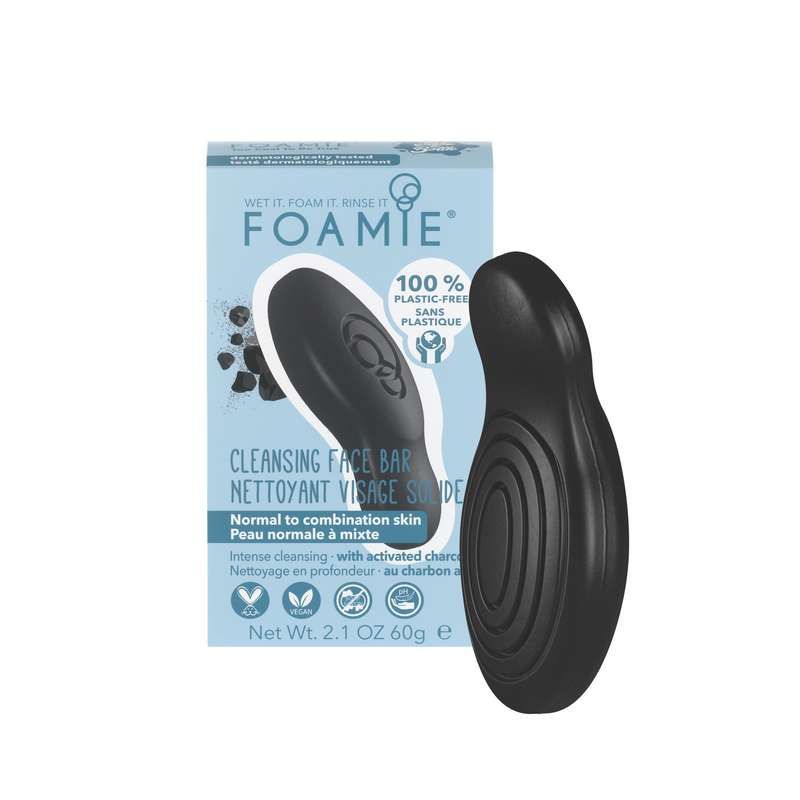 Nettoyant visage solide Too Coal To Be True, Foamie