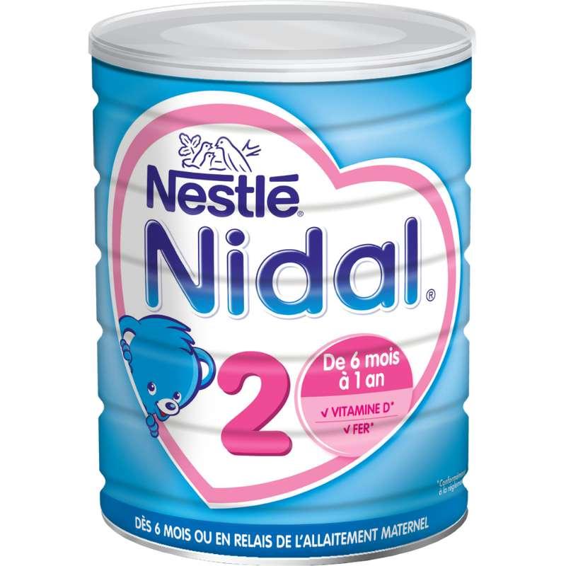 Lait en poudre Nidal 2ème âge - de 6 à 12 mois, Nestlé (800 g)