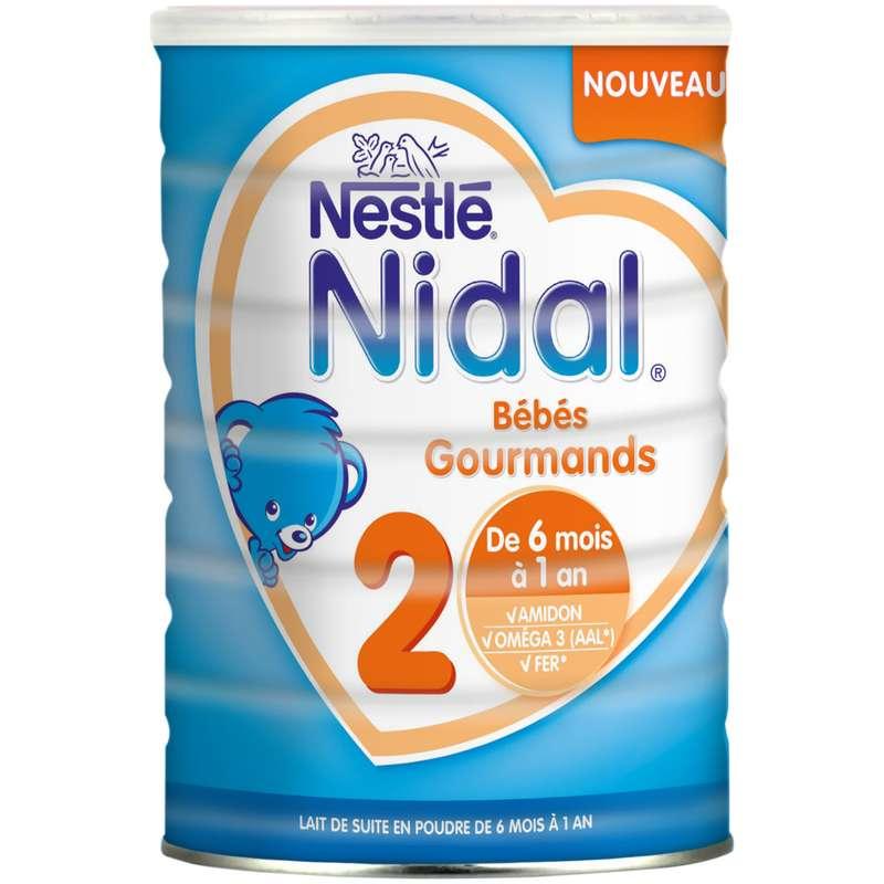 Lait en poudre croissance Nidal 2 - de 6 mois à 1 an, Nestlé (800 g)