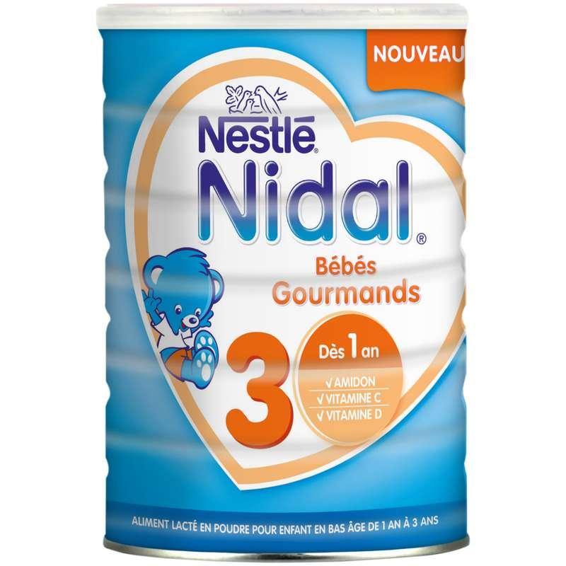 Lait en poudre de croissance Nidal 3 - de 1 à 3 ans, Nestlé (800 g)