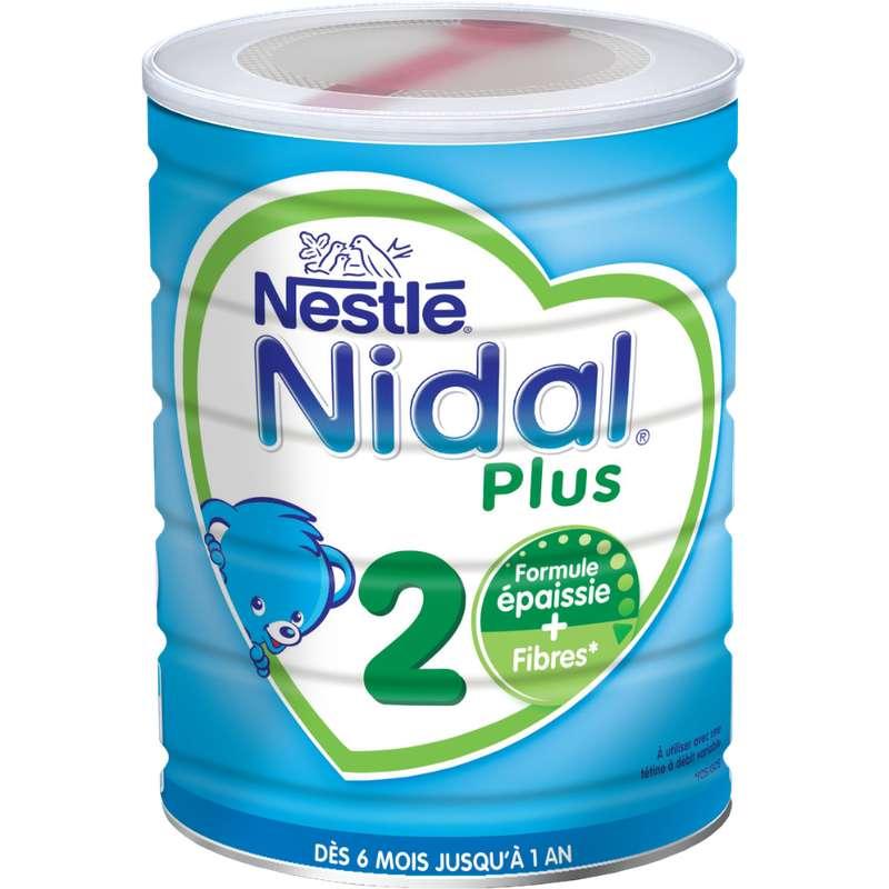 Lait en poudre Nidal plus 2ème âge - de 6 à 12 mois, Nestlé (800 g)