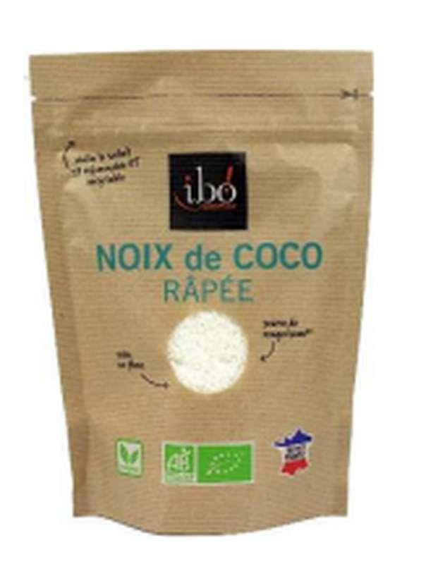 Noix de coco BIO râpée, Ibo (150 g)