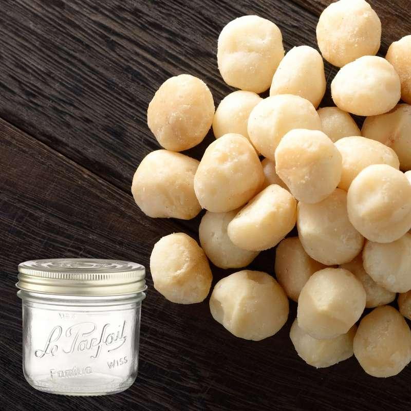 Noix de macadamia BIO bocal consigné / 2,5€ récupérable (230 g)