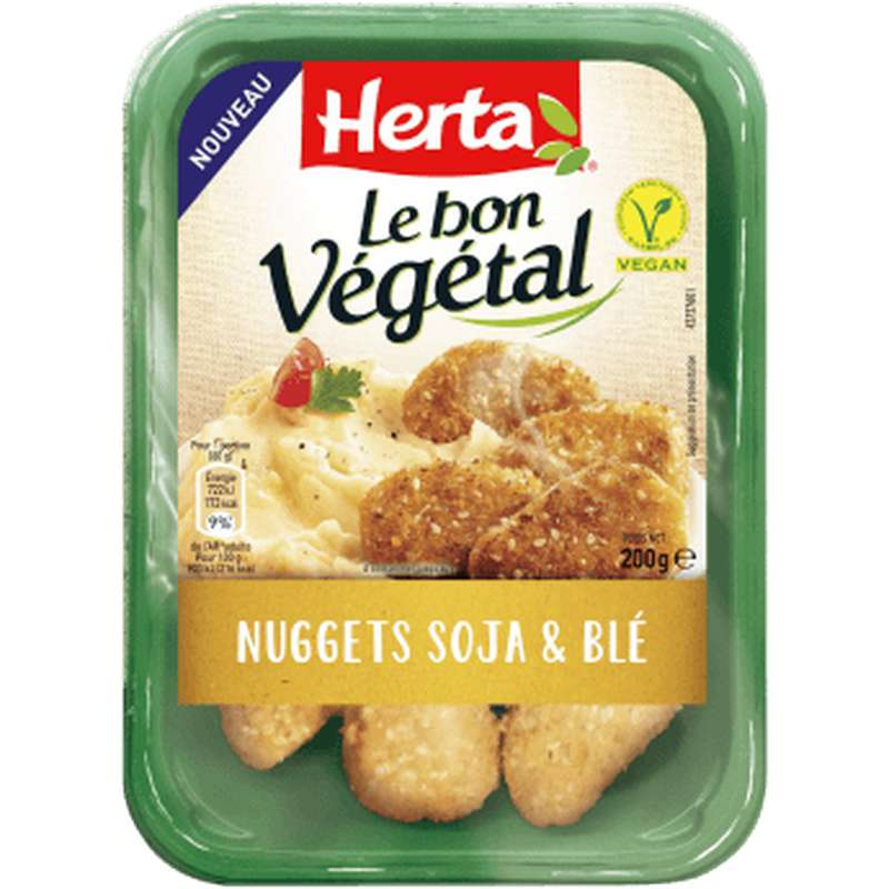 Nuggets soja et blé Le Bon Végétal, Herta (200 g)