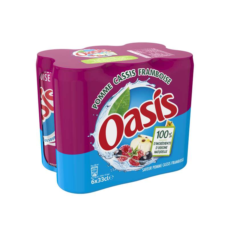 Pack d'Oasis Pomme-Cassis-Framboise (6 x 33 cl)