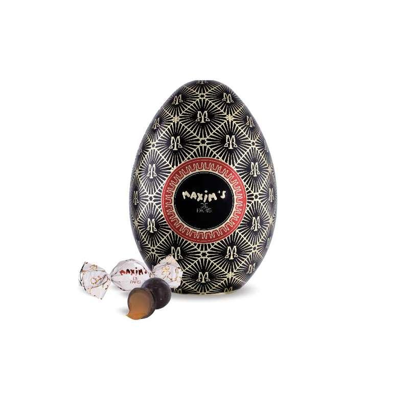 Oeuf Noir - Boules chocolat noir au caramel fondant, Maxim's (80 g)