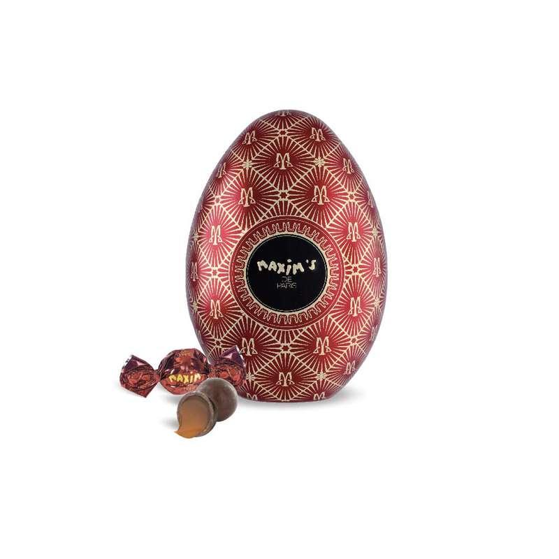 Oeuf Rouge - Boules chocolat au lait et caramel fondant, Maxim's (80 g)