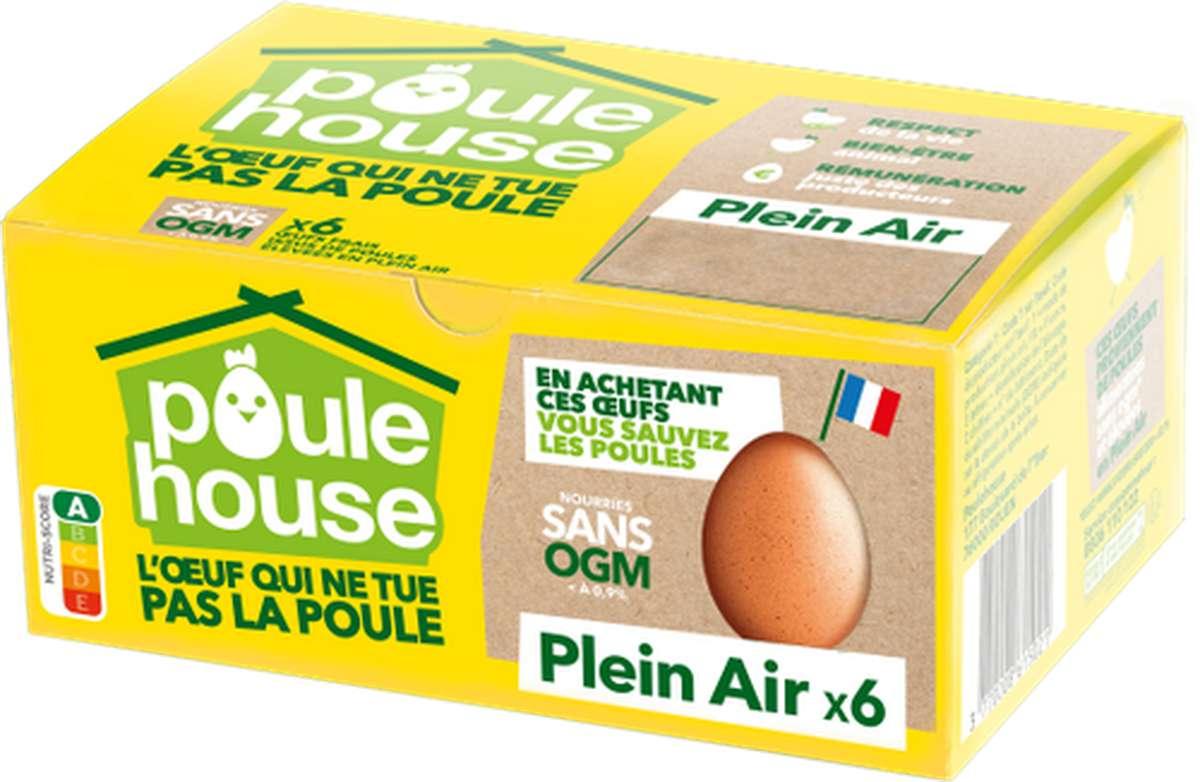 Oeufs éthiques Plein Air, Poulehouse (x 6)