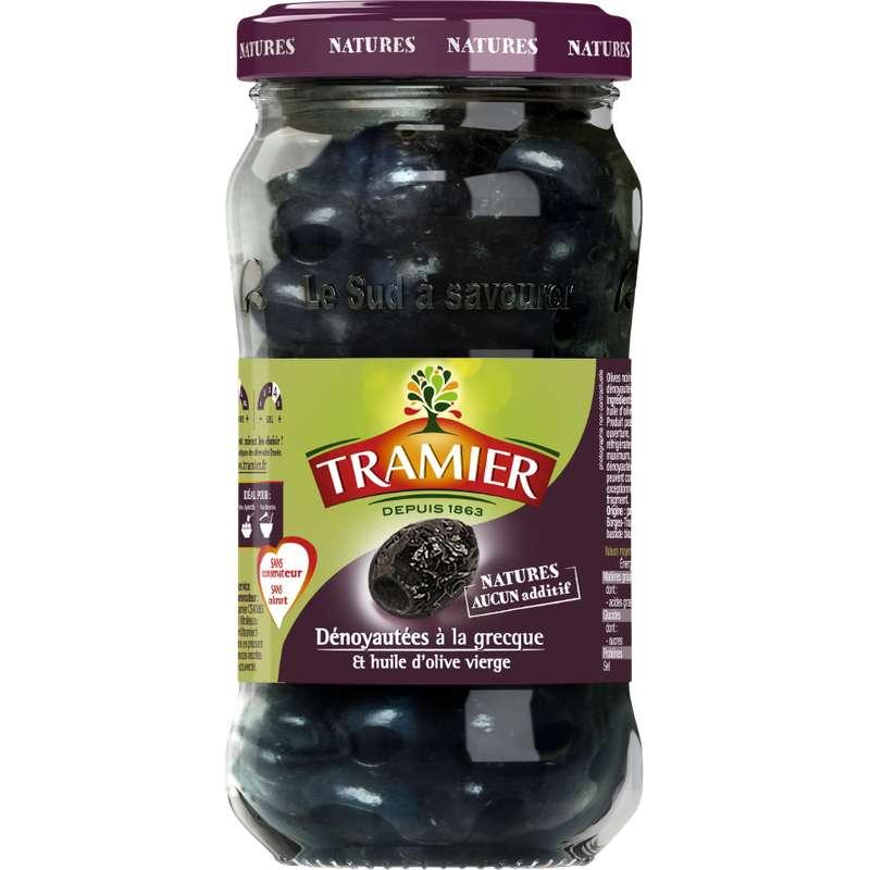 Olives noires à la grecque dénoyautées, Tramier (220 g)