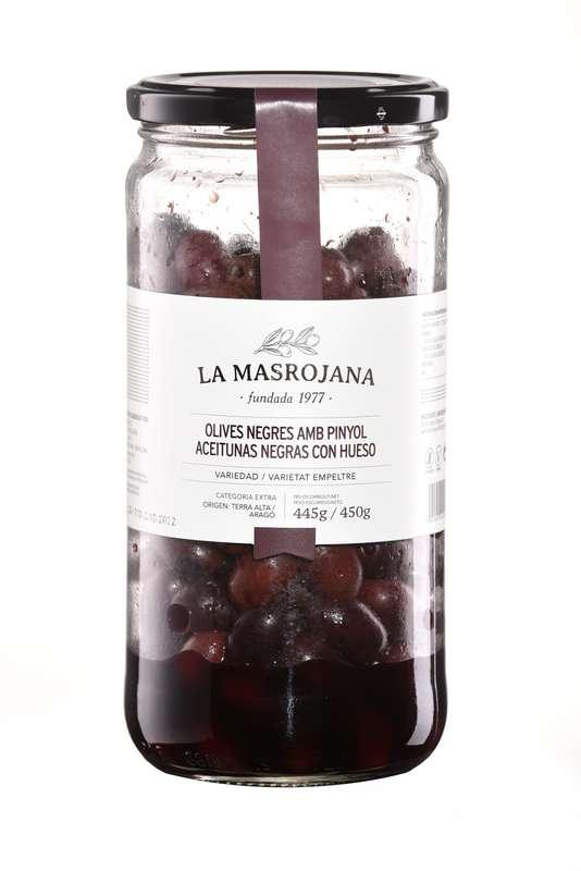 Olives noires avec noyau, La Masrojana (450 g)