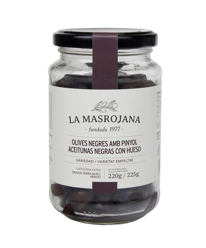 Olives noires avec noyau BIO, La Masrojana (220 g)