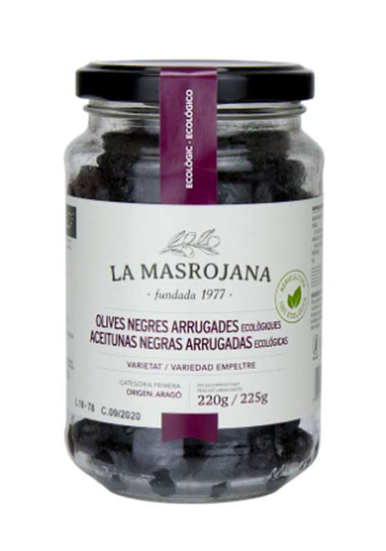 Olives noires façon Kalamata, La Masrojana (220 g)