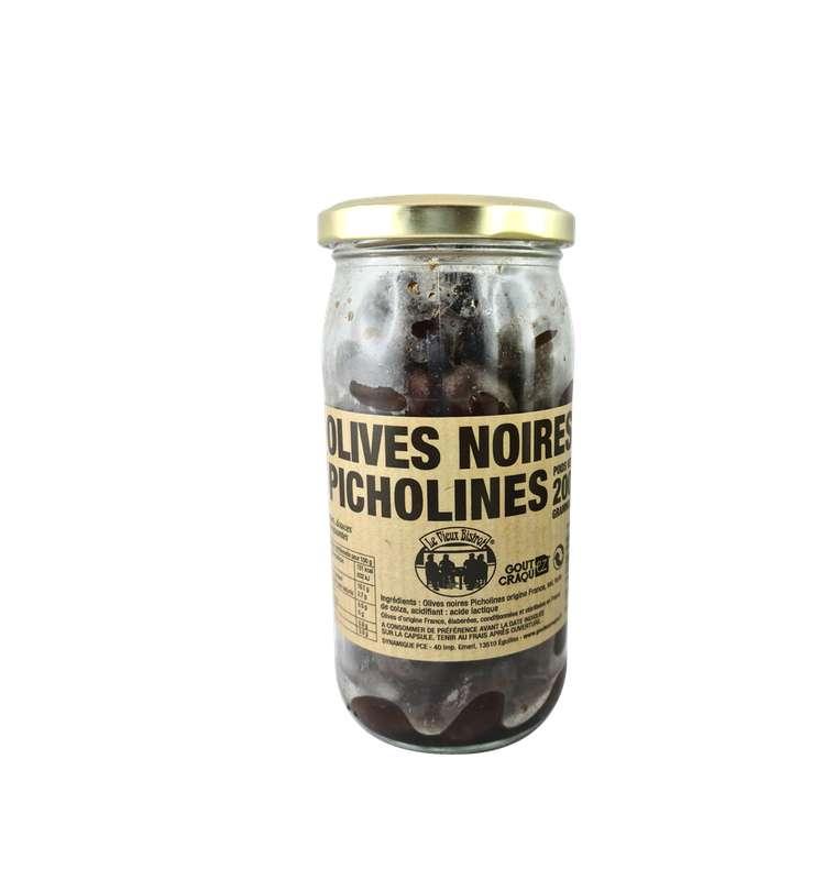 Olives noires Picholines, Le Vieux Bistrot (200 g)