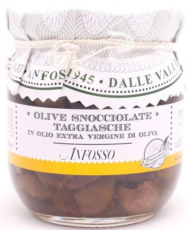 Olives noires taggiasche dénoyautées, Anfosso (185 g)