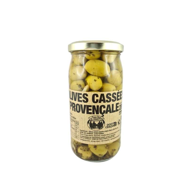 Olives vertes cassées à la provençale, Le Vieux Bistrot (200 g)