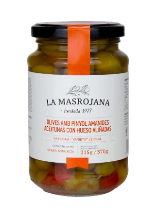 Olives vertes façon Gazpacha avec noyau, La Masrojana (220 g)