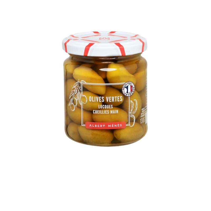 Olives vertes Lucques, Albert Ménès (130 g)
