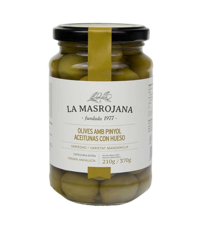 Olives vertes Manzanilla avec noyau, La Masrojana (220 g)