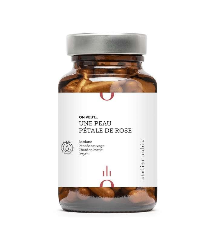 On veut... une peau pétale de rose BIO, Atelier Nubio (x 60 gélules)
