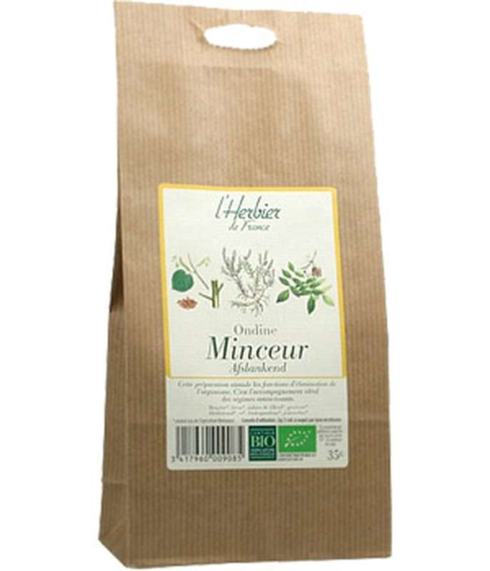 Mélange de plantes Minceur, Elimination Ondine BIO, Herbier de France (35 g)