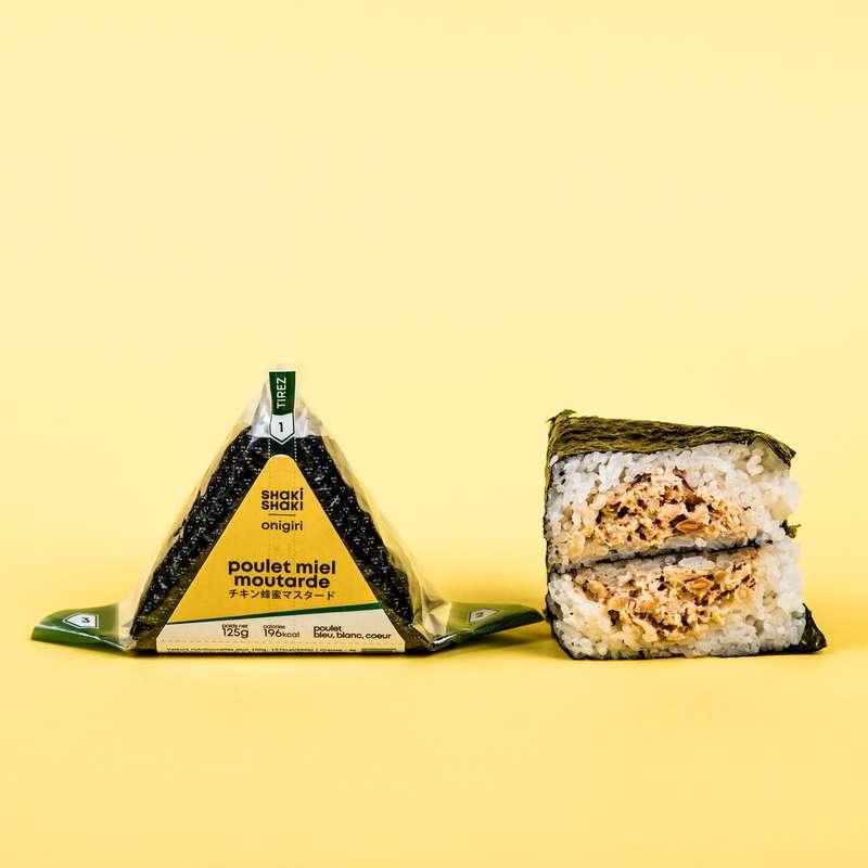 Onigiri poulet miel-moutarde, Shaki Shaki (125 g)