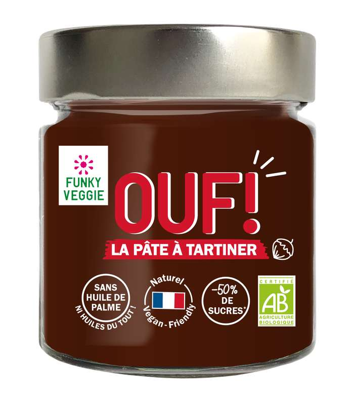 OUF! La pâte à tartiner Cacao Noisette BIO, Funky Veggie (200 g)