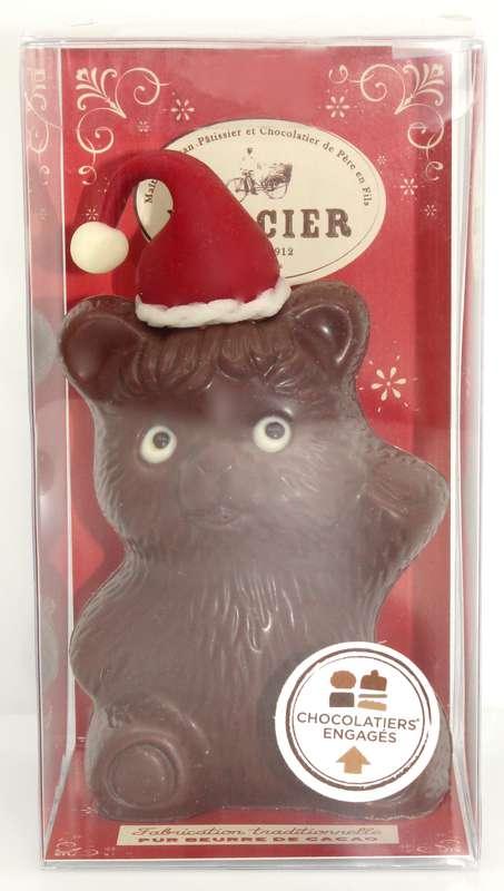 Ourson de Noël chocolat au lait, Chocolaterie Mercier (x 1, 100 g)