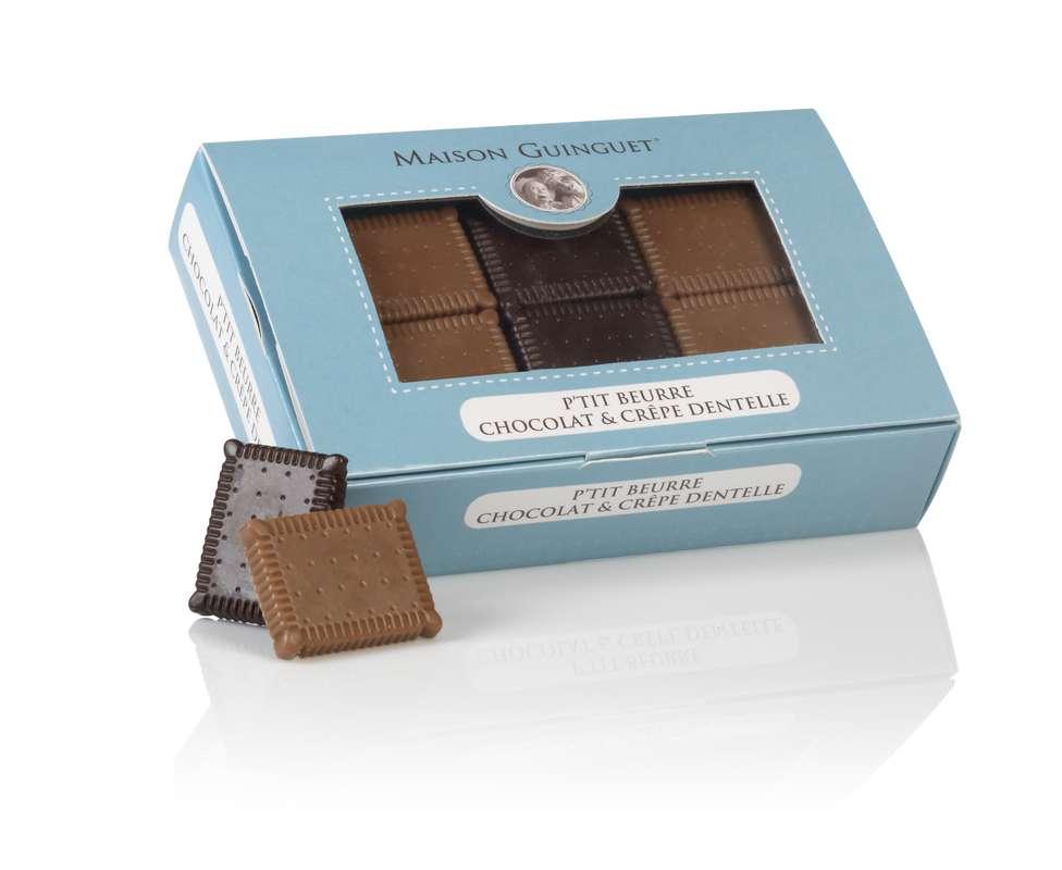 P'tit beurre chocolat et crêpe dentelle, Maison Guinguet (120 g)