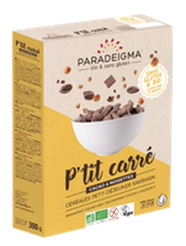 P'tit carré sarrasin cacao et noisettes BIO, Paradeigma (300 g)