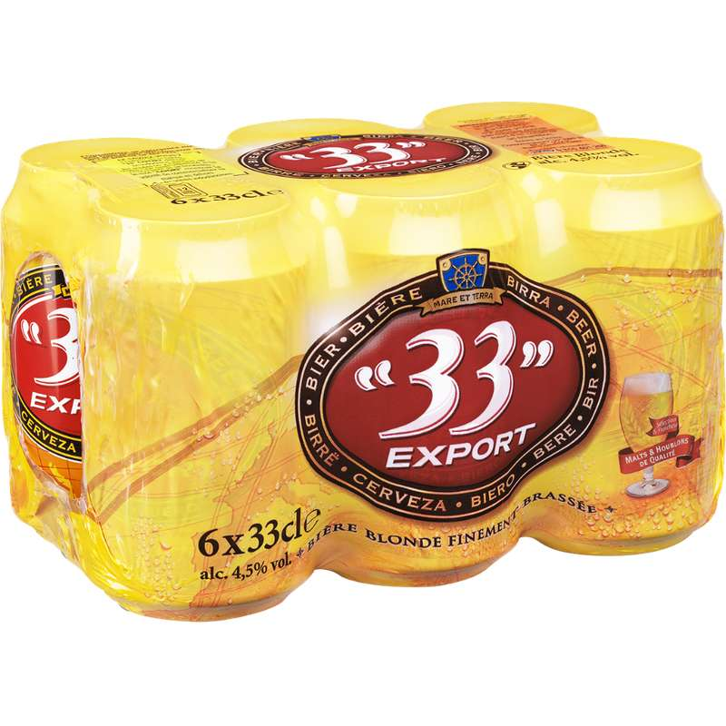Pack de 33 Export 4,5° (6 x 33 cl)