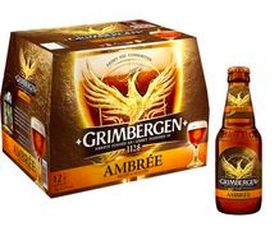 Pack de bière ambrée Grimbergen (12 x 25 cl)