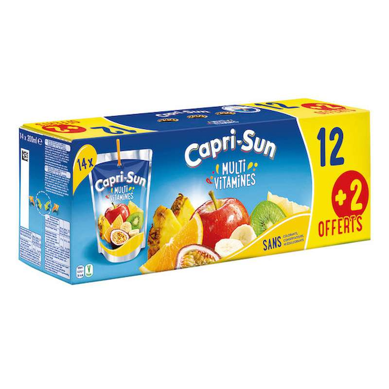 Pack de Capri-Sun à l'orange (12 x 20 cl +2 OFFERTS)