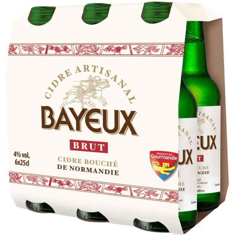 Pack de Cidre artisanal brut, Bayeux (6 x 25 cl)