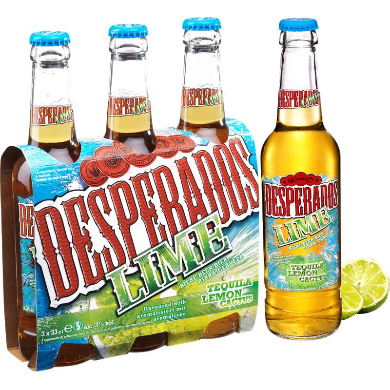 Pack de Desperados Lime, 3° (3 x 33 cl)