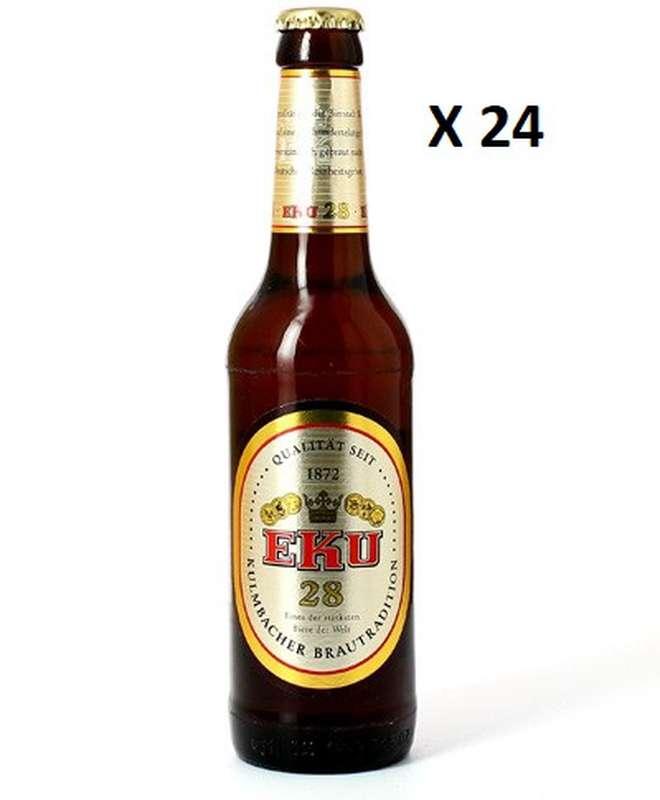 Pack de Eku 28 bière de blé, 11° (24 x 33 cl)
