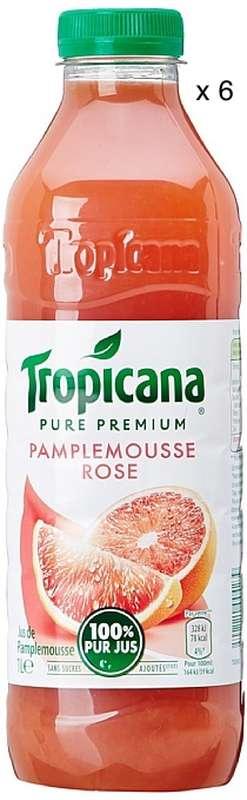 Pack de Jus de pamplemousse rose Tropicana (6 x 1 L)