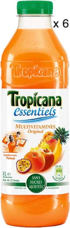 Pack de Jus multivitaminé, Tropicana (6 x 1 L)