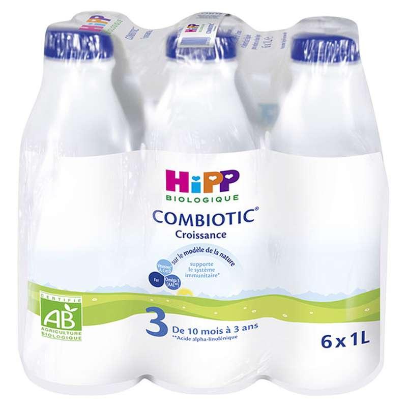 Pack de lait de croissance combiotic 3 BIO - de 10 à 36 Mois, Hipp (6 x 1 L)