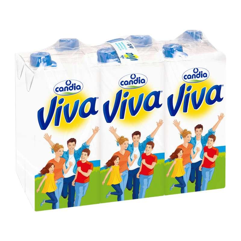 Pack de Lait Viva demi-écrémé UHT, Viva (6 x 1 L)
