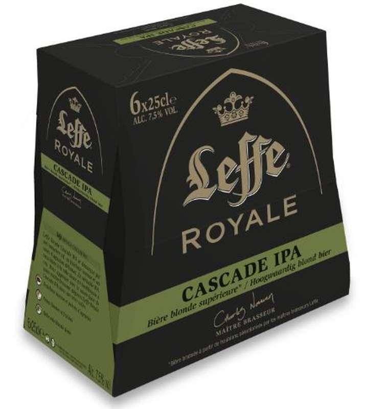 Pack de Leffe Brune Cascade Royale IPA, 7,5° (6 x 25 cl)