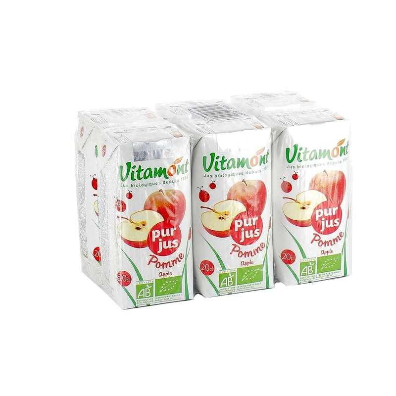 Pack de pur jus de pomme BIO, Vitamont (6 x 20 cl)