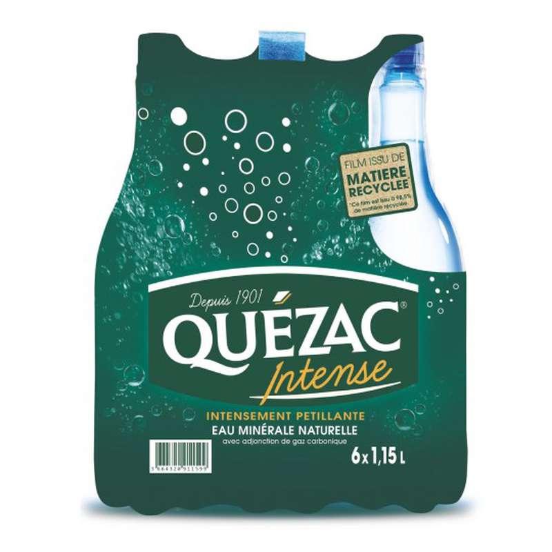 Pack eau minérale gazeuse intense, Quézac (6 x 1,15 L)