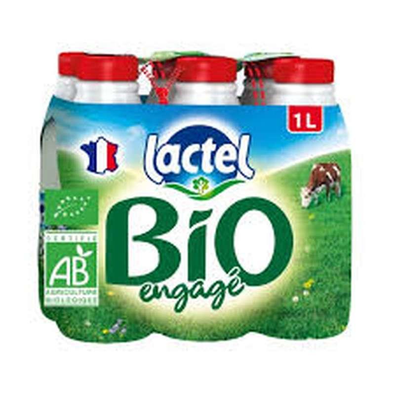 Pack Lait entier BIO, Lactel (6 x 1 L)