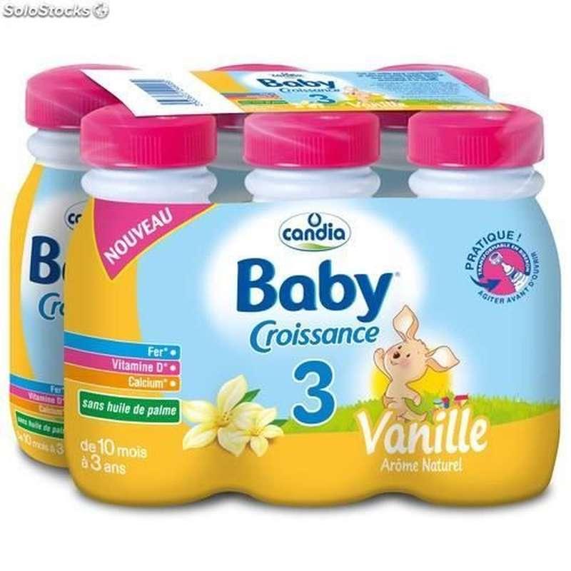 Pack Lait pour bébé à la vanille 3 - dès 10 mois, Candia baby (6 x 25 cl)