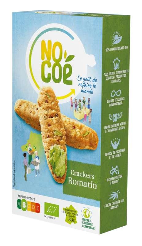 Crackers romarin BIO, Nocoé (100 g)