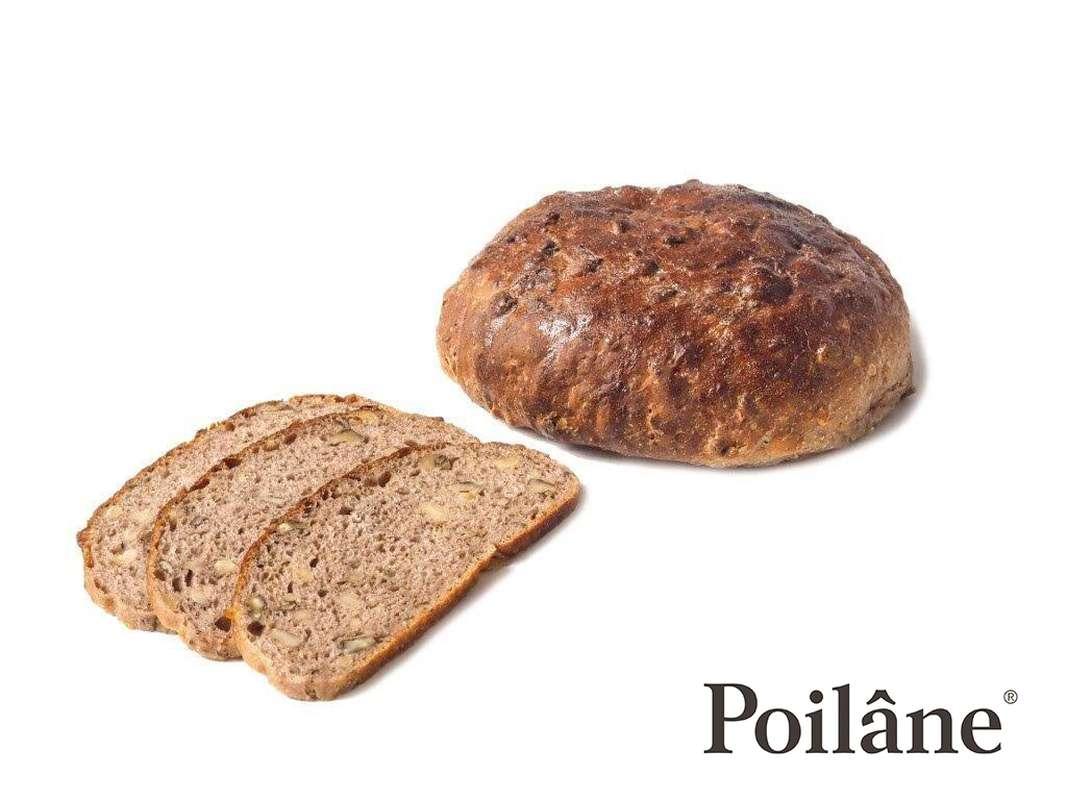 Pain aux noix rond tranché, Poilâne (300g)
