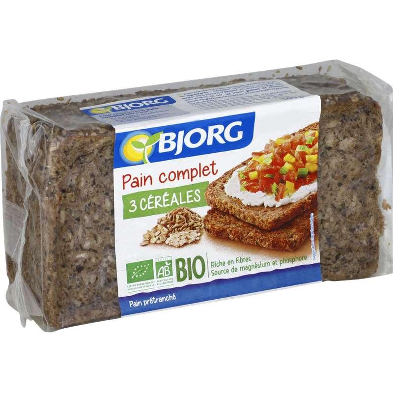 Pain complet aux 3 céréales BIO, Bjorg (500 g)