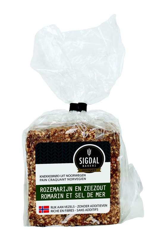 Pain craquant Norvégien - Romarin et sel de mer, Sigdal Bakeri (190 g)