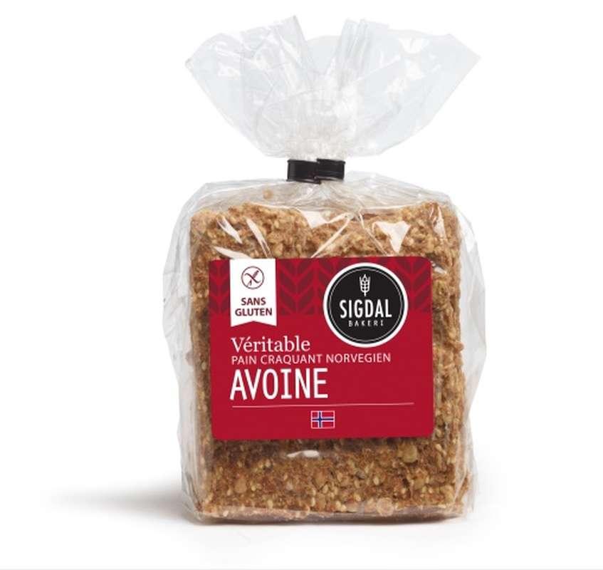 Pain craquant Norvégien sans gluten - Avoine,  Sigdal Bakeri (190 g)